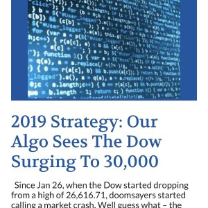 Dow 30K: We Told You So